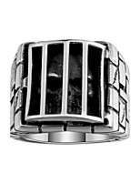 Ring Non Stone Others Unique Design Fashion Halloween Daily Casual Jewelry Stainless Steel Steel Men Ring 1pc,8 9 10 11 Black
