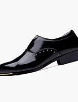 Черный Красный Серебристый-Мужской-Повседневный-Полиуретан-На плоской подошве-Удобная обувь-Туфли на шнуровке