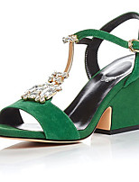 Women's Sandals Summer Slingback Suede Casual Black / Green