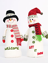 2PC Collapsible Hot Sale Christmas Decoration Santa Claus Snowman Christmas Figurines