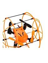 Helic max sky walker 1336 4 canais 2.4G rc Quadrotor 3d helicóptero rollover com função de escalada / caminhada / vôo - laranja