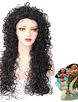 Black/Grey Ombre Color Wave Beauty Natural Wig for European and American Women Daily Wearing Heat Resistant Fashion New Design