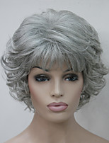 New Wavy Curly Grey 51#  Women's Short Synthetic Wig