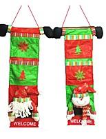 2pcs maison accessoires vacances décoration sac culinaire de stockage de noël