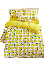 Mingjie Wonderful Yellow Lemons Bedding Sets 4PCS for Twin Full Queen King Size from China Contian 1 Duvet Cover 1 Flatsheet 2 Pillowcases