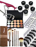 Corretivo/Contour+Sombra para OlhosPincéis de Maquiagem Molhado Olhos / Rosto Gloss Colorido / Cobertura / Longa Duração / Outro China
