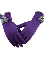 (NOTE - PURPLE) LADIES GLOVES BUTTERFLY HAIR DOES NOT FALL DOWN VELVET RIDING LOVELY GLOVES