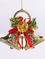 2pcs noël rôle décoration cadeaux ofing noël ornements d'arbre cadeau de Noël pendre actthe rôle de cloche