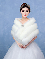 Women's Wrap Capelets Faux Fur Wedding Party/Evening