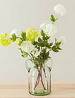 1 Branch 1 Une succursale Soie Hortensias Fleur de Table Fleurs artificielles Total Length:33.5
