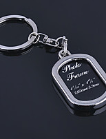 Stainless Steel Wedding Keychain Favors-1 Piece/Set Couples Keychains Non-personalised Character photos Design Valentine's Day