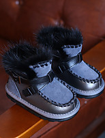 Boy's Boots Comfort Cowhide Casual Black Gray