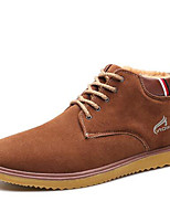 Men's Boots Spring / Fall / Winter Others Leatherette Outdoor / Office & Career / Casual Flat Heel Lace-up Black / Blue / Brown Boot