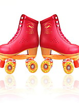 Roller Skates Men's Women's Unisex Breathable Indoor Outdoor Classic Real Leather PVC Ice Skating Roller Skating