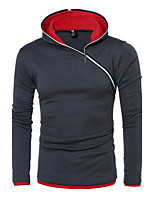 Men's Casual/Daily Sports Active Simple Sweatshirt Color Block Micro-elastic Cotton Long Sleeve Spring