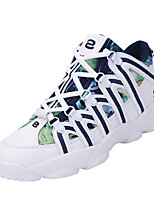 Unisex Athletic Shoes Spring / Fall Comfort Fabric Casual Flat Heel Lace-up Green / Purple / Khaki Sneaker