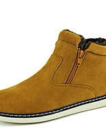 Men's Boots Comfort PU Casual Black Blue Yellow