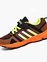 Boy's Athletic Shoes Spring Summer Fall Winter Comfort PU Casual Athletic Flat Heel Lace-up Blue Green Orange