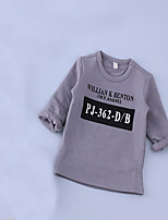 Unisex Casual/Daily Solid Tee,Cotton Fall Long Sleeve Regular