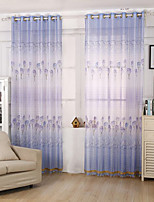 One Panel Curtain Modern , Flower Kids Room Poly / Cotton Blend Material Sheer Curtains Shades Home Decoration For Window