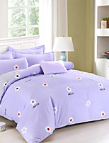Solid Color Cotton Bedding Covers 4Pcs Girls love