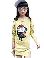 Girl's Casual/Daily Solid Dress,Cotton Spring / Fall Long Sleeve