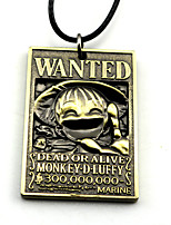 Inspired by One Piece Monkey D. Luffy Anime Cosplay Accessories Necklace Golden / Silver Alloy