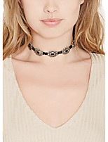 Women Retro Simple Fashion Hollow Black Palace Pattern Lace Necklace Sexy Personalized Choker Short Necklace Jewelry 1pc