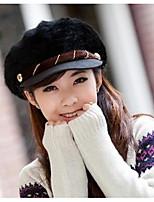 Для женщин Для женщин На каждый день Широкополая шляпа,Кроличий мех,осень / Зима