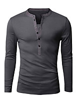 New Men'S Access Color False Two Slim Casual All-Match Long Sleeved T-Shirt Bottoming