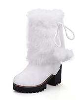 Women's Boots Fall Winter Comfort Leatherette Dress Chunky Heel Pom-pom Walking