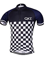 QKI Piano Pro Cycling Jersey Men's Short Sleeve Bike Breathable / Quick Dry / Anatomic Design / Front Zipper / Reflective Strips