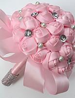 Bouquets de Noiva Redondo Peônias Buquês Casamento Festa / noite Cetim 9.84