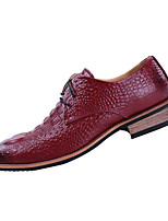 Черный Желтый Красный-Мужской-Повседневный-Полиуретан-На плоской подошве-Удобная обувь-Туфли на шнуровке