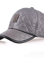 Men's winter light leather baseball cap Recreational skin thickening protective ear hat Breathable / Comfortable