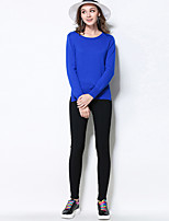 MEIDONGTAI Women's Plus Size Skinny Chinos PantsCasual/Daily Simple Solid High Rise Zipper Rayon / Nylon / Spandex Stretchy Fall / Winter