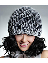 Women Rabbit Fur Beanie/Slouchy,Casual Fall / Winter