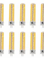 15W G4 Ampoules Maïs LED T 136 SMD 5730 1200-1400 lm Blanc Chaud / Blanc Froid Gradable / Décorative V 10 pièces