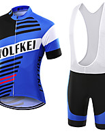 WOLFKEI Summer Cycling Jersey Short Sleeves BIB Shorts Ropa Ciclismo Cycling Clothing Suits #05