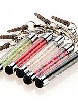 szkinston 5 Mini-Stift Kristall Touchscreen-Stift Anti-Staub-Stecker Kapazität Feder für iphone / iPod / iPad / Samsung und andere