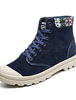Men's Fashion Combat Boots High Top Shoes Casual Short Boots Flat Heel Black / Blue / Red EU39-43