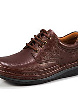 Men's Oxfords Spring Summer Fall Winter Comfort Nappa Leather Outdoor Office & Career Party & Evening Casual Light Brown Black