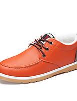 Черный / Синий / Оранжевый-Мужской-На каждый день-ДерматинУдобная обувь-Туфли на шнуровке