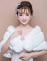 Women's Wrap Capelets Faux Fur Wedding / Party/Evening Rhinestone / Animal Print