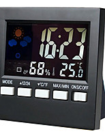 HTC-1 Hygrometer Alarm Clock Color Electronic Thermometer Clock