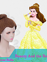 Beauty And the Beast Cosplay Princess Bella Wigs Heat Resiatant Cosplay Natural Looking Synthetic Wigs
