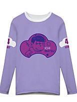 Inspirado por Fantasias Fantasias Anime Fantasias de Cosplay Cosplay T-shirt Estampado Púrpura Manga Comprida Japonesa/Curta