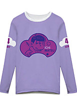 Inspiriert von Cosplay Cosplay Anime Cosplay Kostüme Cosplay-T-Shirt Druck Lila Lange Ärmel T-Shirt-Ärmel