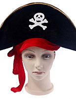 Halloween Party Supplies Pirates Of The Caribbean Captain Hat Red Ribbon Pirate Hat