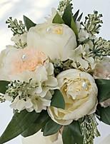 Bouquets de Noiva Redondo Peônias Buquês Casamento / Festa / noite Cetim 9.84